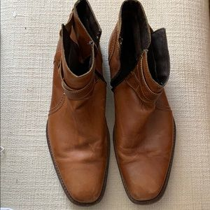 Aldo men's low boots. Size 11. See pics for wear.